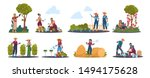 Agricultural Work. Cartoon...