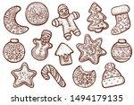 Gingerbread Cookies Vector ...