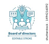 board of directors concept icon.... | Shutterstock .eps vector #1494216092