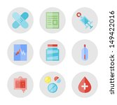 collection of vector icons in... | Shutterstock .eps vector #149422016