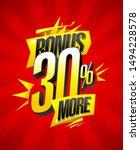 bonus 30  more  vector sale... | Shutterstock .eps vector #1494228578