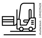 forklift truck icon. outline... | Shutterstock .eps vector #1494229628