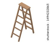 wood ladder icon. isometric of... | Shutterstock .eps vector #1494232865