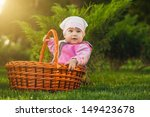 cute baby is playing in the park | Shutterstock . vector #149423678