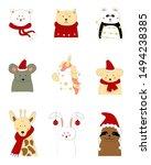 cartoon animals  mouse  panda... | Shutterstock .eps vector #1494238385