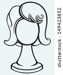 wig on mannequin head isolated... | Shutterstock .eps vector #149423852