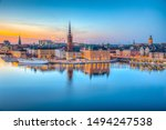 Sunset View Of Gamla Stan In...