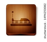 Brown Bumper Car Icon Isolated...