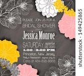 wedding invitation card | Shutterstock .eps vector #149425865
