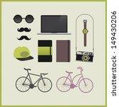 hipster set | Shutterstock .eps vector #149430206