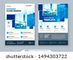 blue flyer template layout... | Shutterstock .eps vector #1494303722