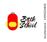 back to school logo icon or... | Shutterstock .eps vector #1494324845