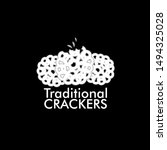 traditional crackers logo icon... | Shutterstock .eps vector #1494325028