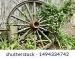 Old Weathered Wagon Wheel...