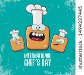 international chef day greeting ...   Shutterstock .eps vector #1494337445