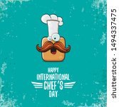 international chef day greeting ...   Shutterstock .eps vector #1494337475
