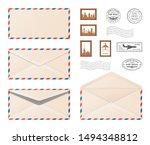Air Mail Envelope.  Set Various ...
