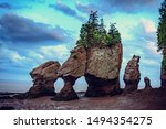Sunset In Hopewell Rocks At Lo...