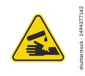 corrosive substance sign... | Shutterstock .eps vector #1494377162