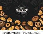 fresh bread everyday banner.... | Shutterstock .eps vector #1494378968
