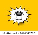 hat trick line icon. comic... | Shutterstock .eps vector #1494380702