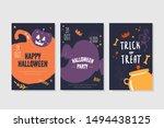 halloween party poster... | Shutterstock .eps vector #1494438125