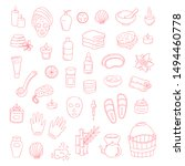 vector doodle icons spa... | Shutterstock .eps vector #1494460778