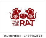 2020 chinese new year  year of... | Shutterstock .eps vector #1494462515