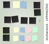 a large set of  square photo... | Shutterstock .eps vector #1494462542