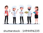 group of head chefs  man and... | Shutterstock .eps vector #1494496235