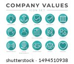 flat outline company core... | Shutterstock .eps vector #1494510938