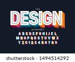 vector of stylized modern font... | Shutterstock .eps vector #1494514292