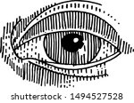 the image of the eye made in...   Shutterstock . vector #1494527528