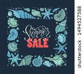 summer sale. square frame from... | Shutterstock .eps vector #1494527588