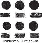 big collection of grunge post... | Shutterstock .eps vector #1494528005