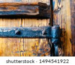 Metal Hinge From An Old Wooden...