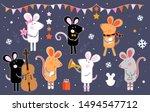 cute cartoon mouse. 2020 mouse...   Shutterstock .eps vector #1494547712