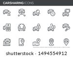 car sharing vector line icons... | Shutterstock .eps vector #1494554912