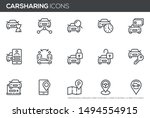 car sharing vector line icons... | Shutterstock .eps vector #1494554915