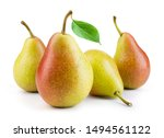 Pears Isolated. Pears With Leaf ...