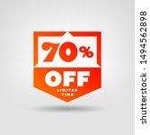 70  e commerce price tag design.... | Shutterstock .eps vector #1494562898