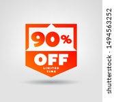 90  e commerce price tag design.... | Shutterstock .eps vector #1494563252