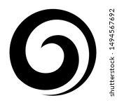maori koru spiral swirl for...   Shutterstock .eps vector #1494567692