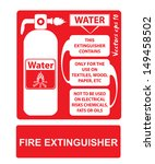 fire extinguishers appropriate... | Shutterstock .eps vector #149458502