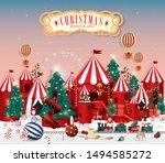 christmas wonderland greetings... | Shutterstock .eps vector #1494585272