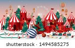 christmas wonderland greetings... | Shutterstock .eps vector #1494585275