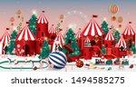christmas wonderland greetings... | Shutterstock .eps vector #1494585275