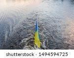 Ukrainian National Flag On The...