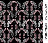 batik tribal and bird...   Shutterstock .eps vector #1494602525