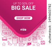 sale banner with price tag and... | Shutterstock .eps vector #1494603782